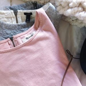 Blush Madewell Zipper Tunic